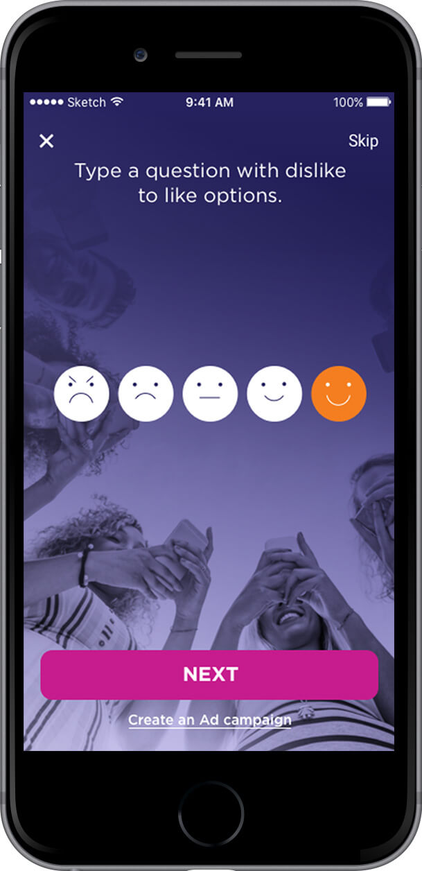 Like-Dislike Phone Mockup