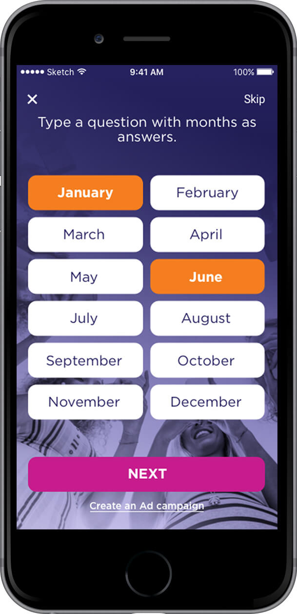 Month Picker Phone Mockup